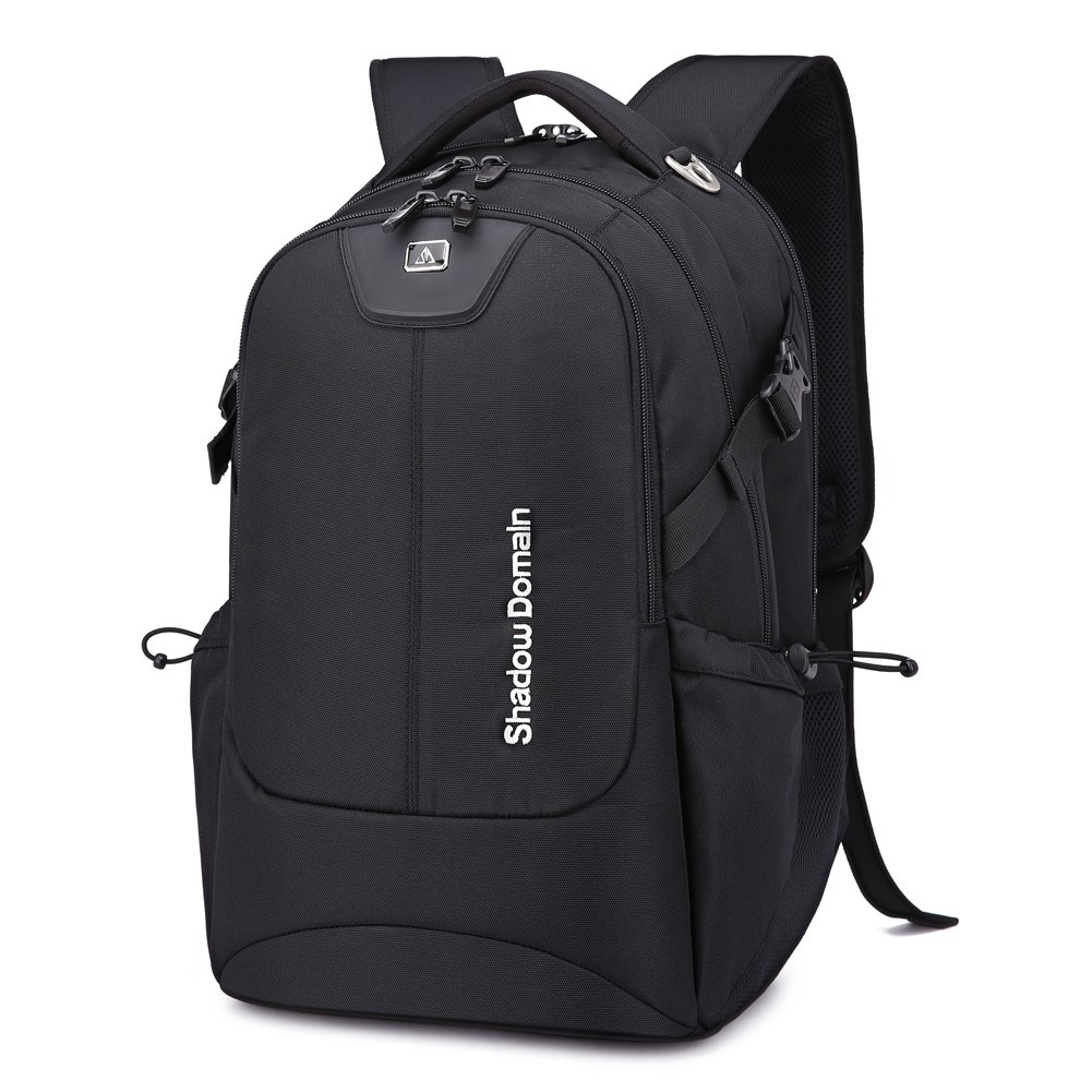 SD SHADOW DOMAIN Laptop Backpack, Water Resistant Polyester School Bookbag for College Travel Backpacks for Laptop and Notebook (17 Inch 01- Black 42L)