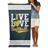 Ive Love - Softball Adults Swim Towels 80x130 Inches