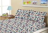 Kute Kids Super Soft Sheet Set - Big Race - Brushed Microfiber for extra comfort
