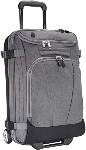 eBags Mother Lode USB Carry-On Rolling Duffel 21 Inch Heathered Graphite w USB