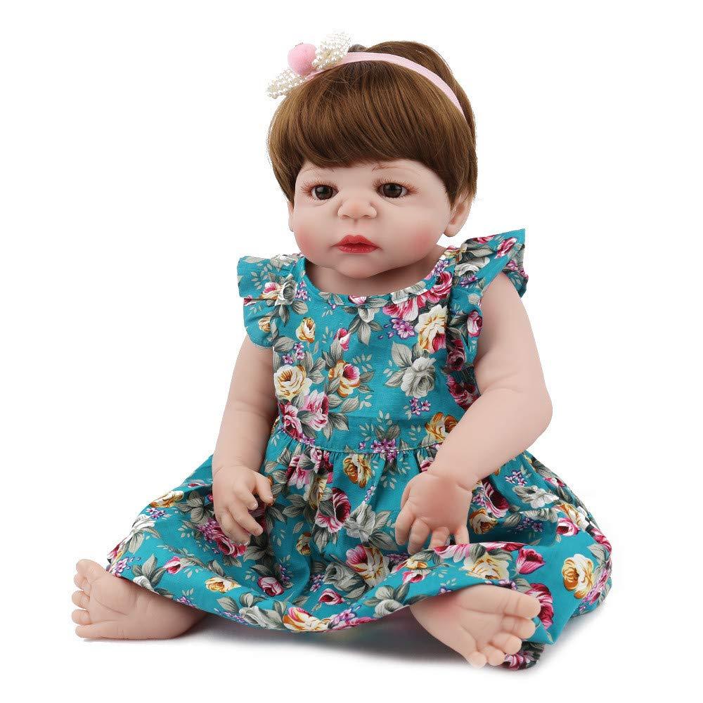 Lovewe Educational Doll,Lifelike Baby Doll 55cm New Doll Kids Girl Playmate Birthday Gift Christmas Gift