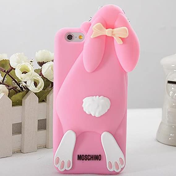 premium selection 0440c 9d59e Moschino Rabbit Soft Silicone Back Case Cover For Iphone 6 Plus 5.5 Inch