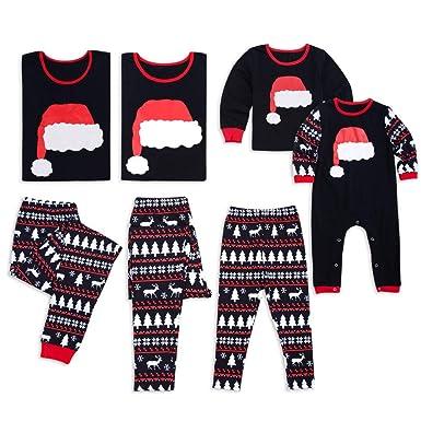 aa6b3e0017 Family Christmas Pajamas Set - 2 Piece Pjs Sets Cotton Sleepwears Mom ,Dad,Kids