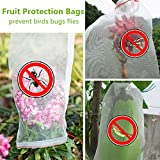REDODECO 30pcs Garden Reusable Nylon Fruit Plants Protection Netting Bags Prevent Birds Bugs Squirrels (12'' L x 9'' W)