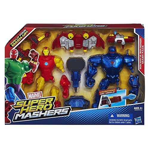 Marvel Super Hero Mashers Iron Man vs. Iron Monger Mash Pack  Amazon.co.uk   Toys   Games d8065436e6