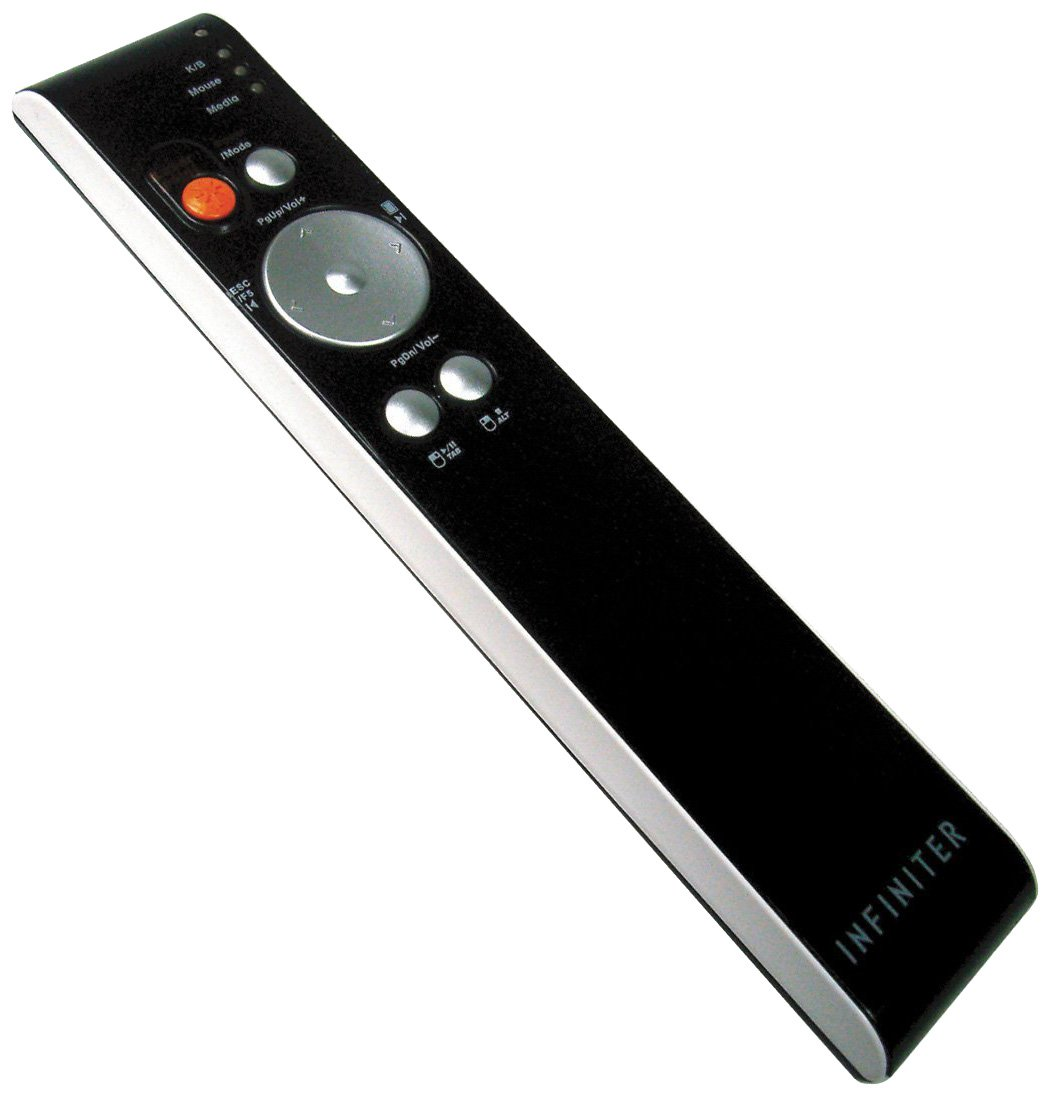 INFINITER LR6 Wireless Remote/Presenter/Media Player with Green Laser Pointer for Meeting Room