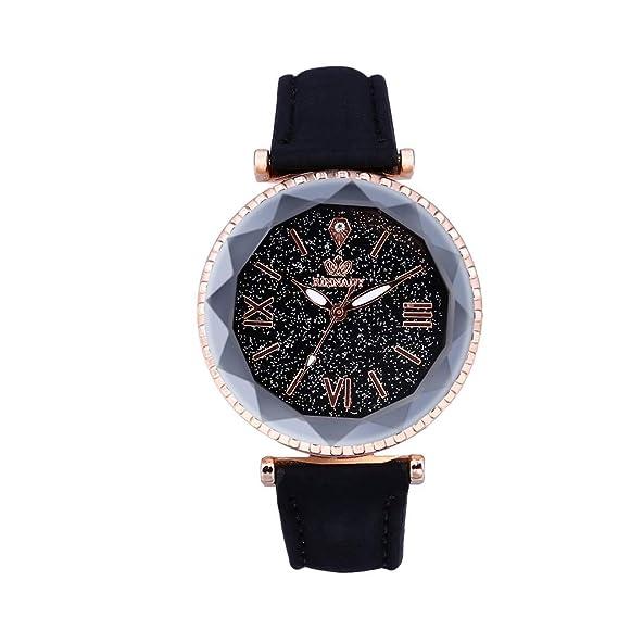 DAYLIN Relojes Mujer Marca Reloj Pulsera Correa de Cuero Relojes ...
