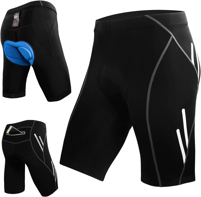Details about  /Fahrradhose Herren /&3D Gel Sitzpolster Radhose Radlerhose Damen Shorts