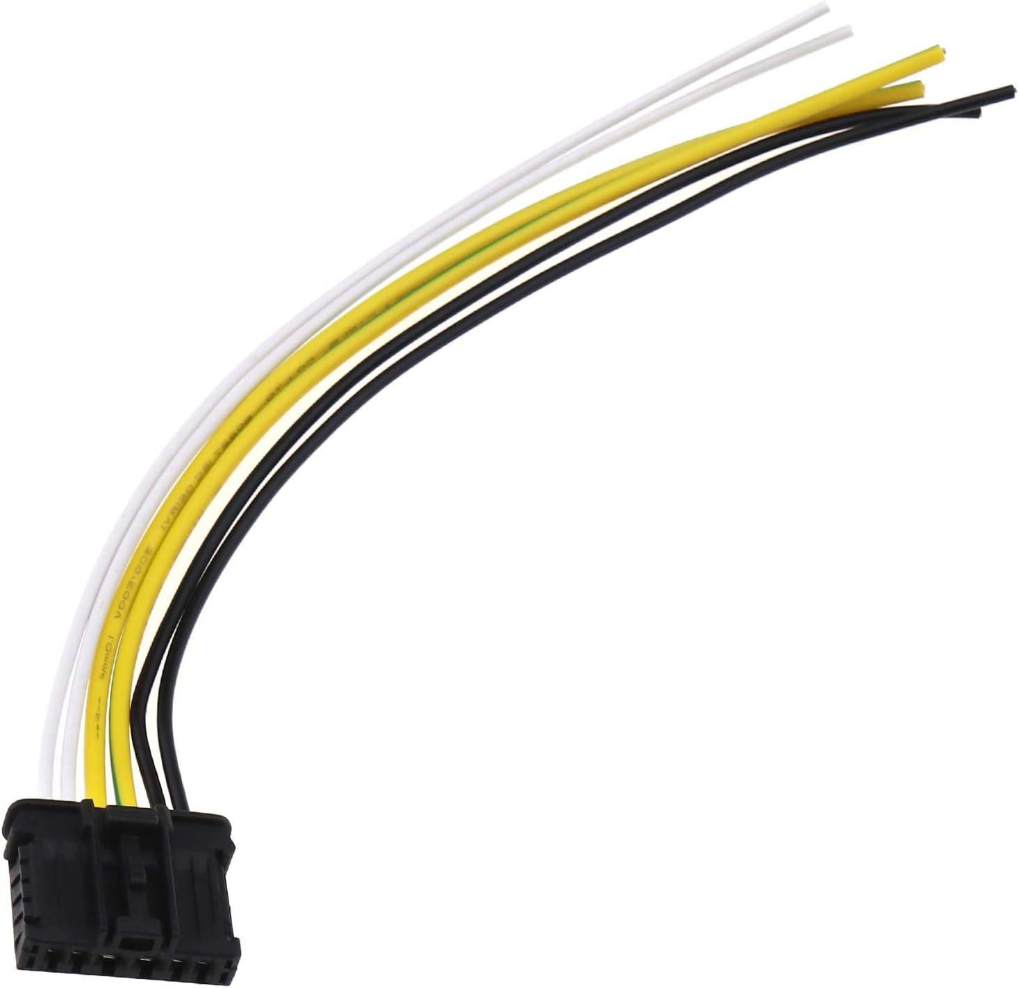 Ototec 2 Stücke 6 Pin 20 Cm Rücklicht Kabelsatz Rücklicht Kabelbaum 1606248780 Ersatzteile Kompatibel Mit 206 207 307 308 Auto