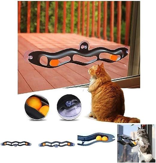 Huhuswwbin Juguetes interactivos para Gatos, Juguete Interactivo de plástico con Ventosa para Gato, Juguete de Regalo – Color al Azar: Amazon.es: Productos para mascotas