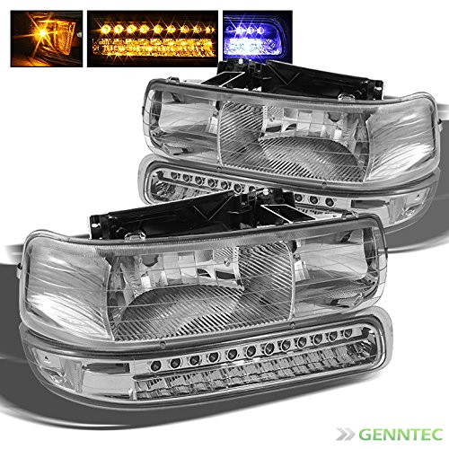 02 tahoe chrome headlights - 5