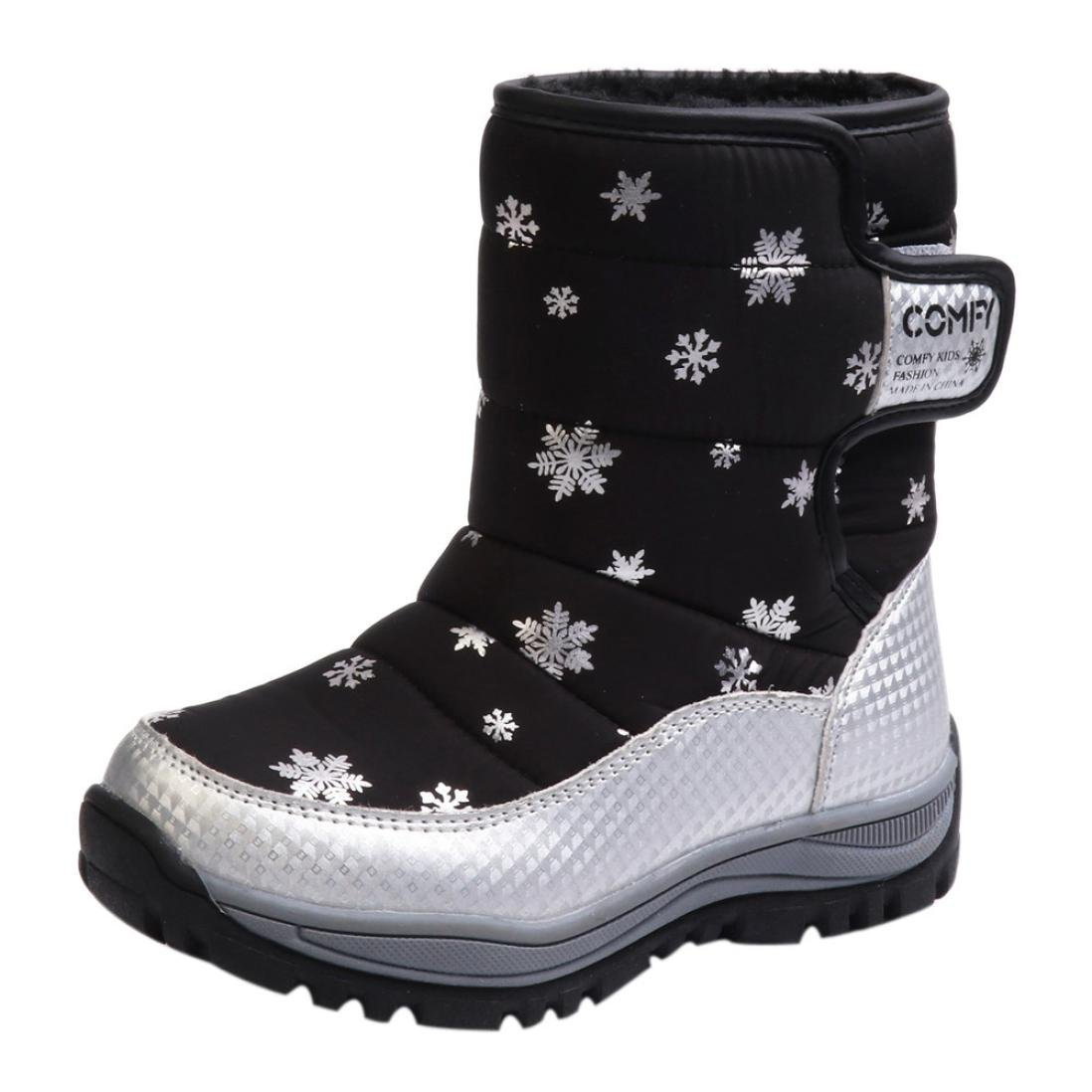 82fb761bcf64 Children snow boots shoes winter high ankle boots fashion kids shoes  students sneakers boot keep warm