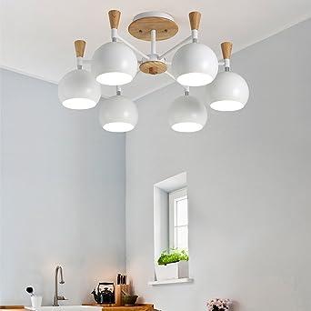 Tatosun Licht Ø66cm Deckenlampe Lampenschirm Aus Eisen Mit Backen Farbe  Finish E27× 6 Fassungen