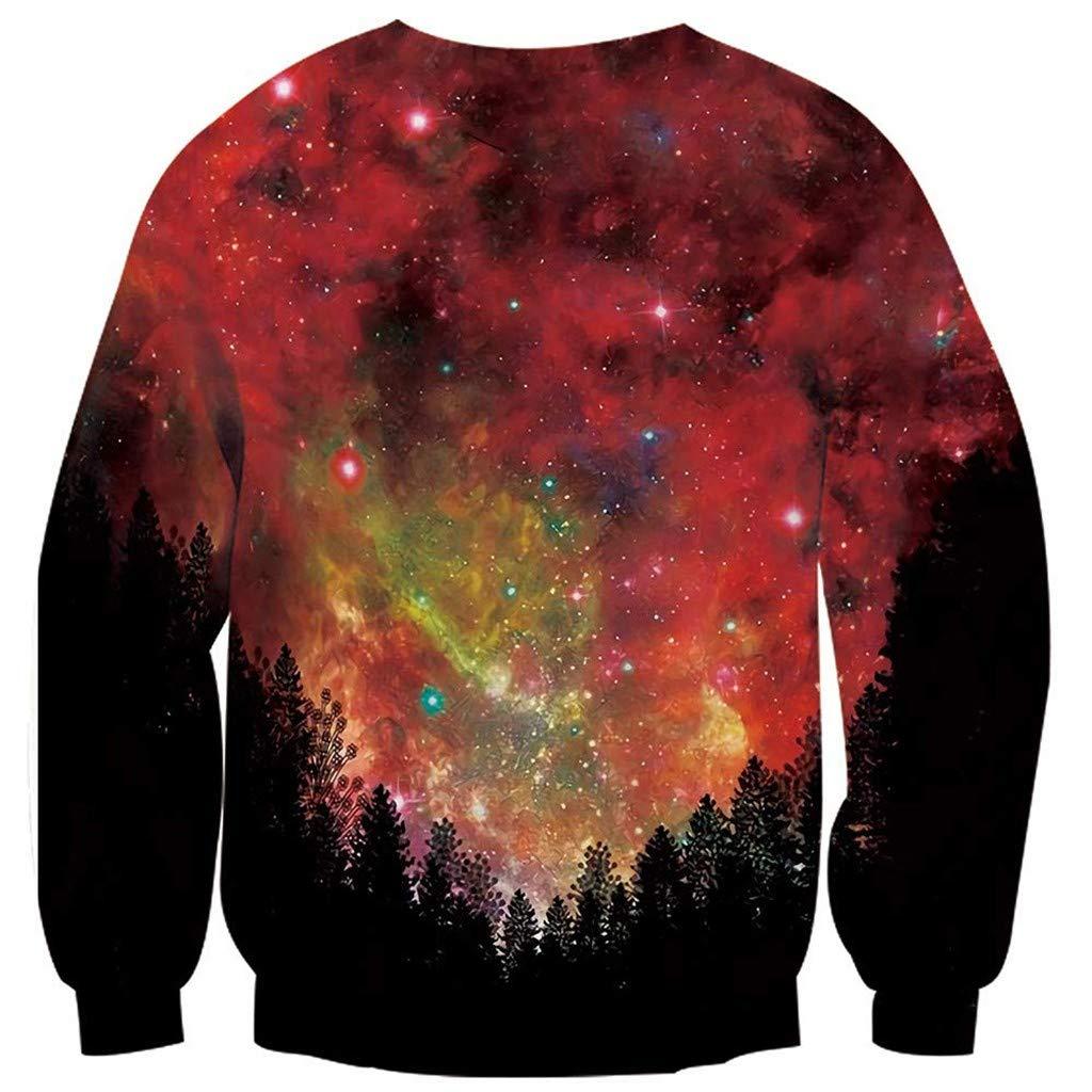 f7b7f61910 Keliay Bargain Women's Autumn Winter 3D Christmas Print Long Sleeve O-Neck  Sweatshirt Blouse at Amazon Women's Clothing store: