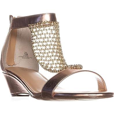 33892e6b070f Thalia Sodi Tibby Mesh Embellished Wedge Sandals  Amazon.co.uk  Shoes   Bags