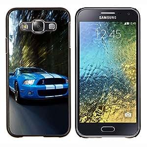 Qstar Arte & diseño plástico duro Fundas Cover Cubre Hard Case Cover para Samsung Galaxy E5 E500 (Cobra Mustang Gt500 coche)