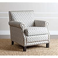 Accent Chairs / Chair Living Room, Black Finish ABBYSON LIVING Chloe Grey Pattern Club Chair BR-CC1103-GRYSWRL, (28.5W x 33 D x 31.5 H)