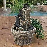 Design Toscano Rocky Mountain Splash Black Bears Garden Fountain
