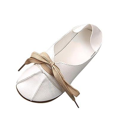 Sunbona Toddler Little Girls Dance Ballet Flats Princess Mary Jane Casual Slip On Ballerina Leather Shoes
