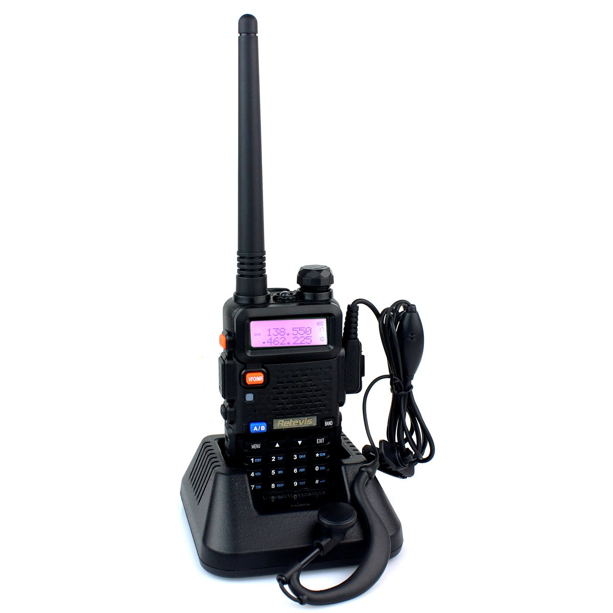 Retevis RT-5R 2 Way Radio 5W 128CH UHF/VHF 400-520MHz/136-174MHZ Walkie Talkies (6 Pack) and Programming Cable by Retevis (Image #2)