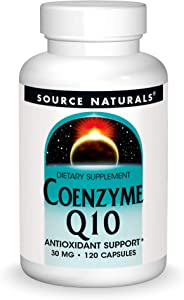 Source Natural Coenzyme Q10 Antioxidant Support 30 mg For Heart, Brain, Immunity, & Liver Support - 120 Capsules