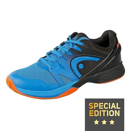 Head Zapatillas Prestige Ltd. Clay Men Negro/Azul: Amazon.es ...