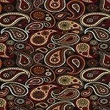 Doormat 18x30 Black Paisley Kitchen Rugs and mats