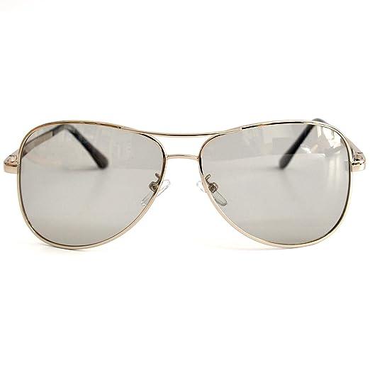 VOLCHIEN Photochromic Aviator Sunglasses for Men Women Polarized UV400 Protection Spring Hinge Lightweight VC1019