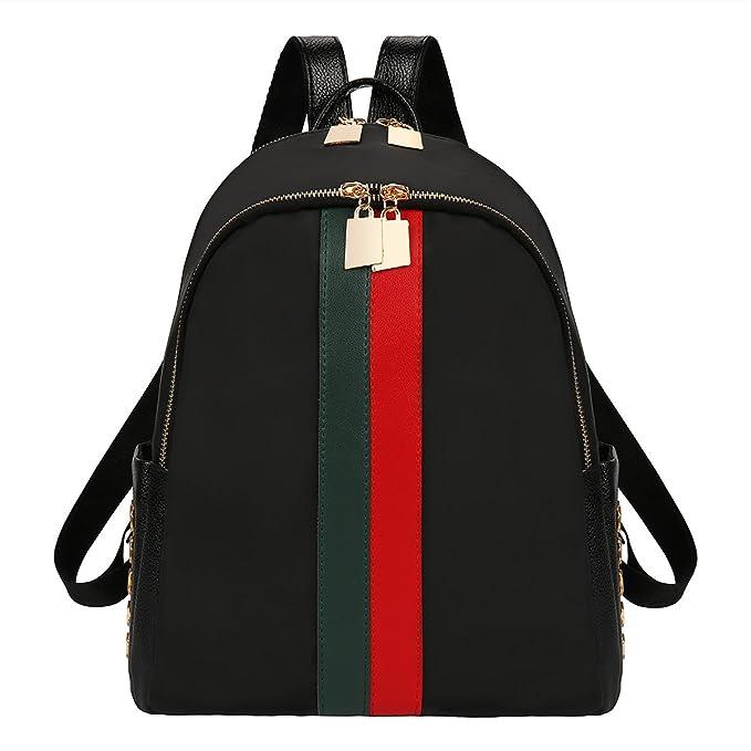 80f892d2024b Amazon.com  xhorizon FL1 Double Zippers Leather Luxury Designer Women Backpack  Bag Ladies Teenager Tote Handbag  XHORIZON