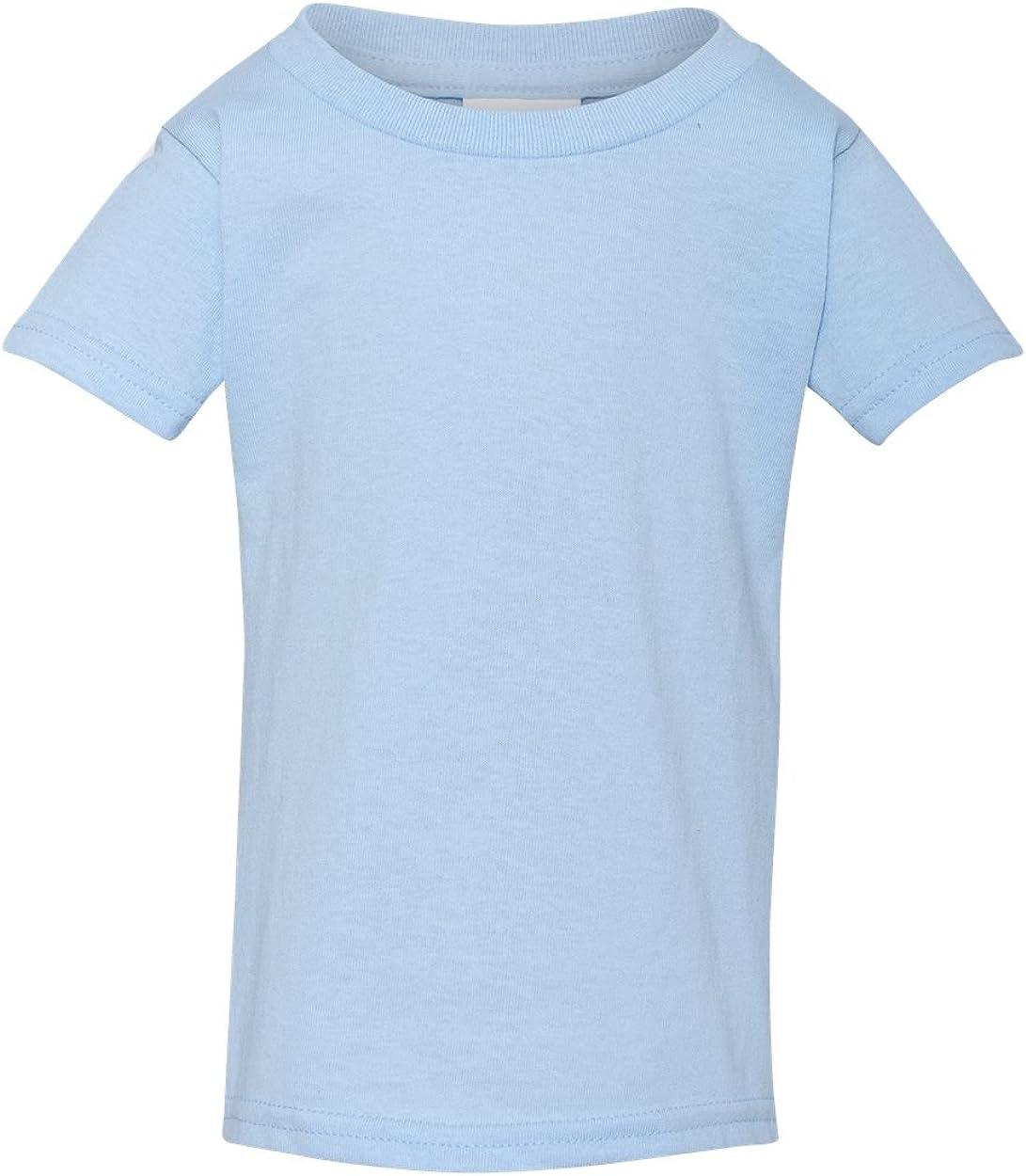 Toddler Heavy Cotton 5.3 oz T-Shirt LIGHT BLUE 4T