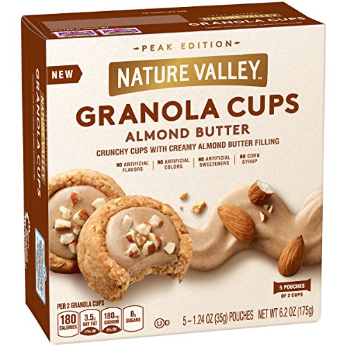 Nature Valley Peak Edition Almond Butter Granola Cups, 5 Count, 6.2 Ounce