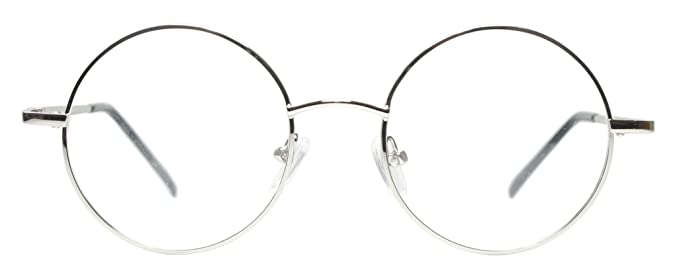 d16c68e67517 Amazon.com  Full Rim Metal Round Eyeglasses Frame (Medium Size ...