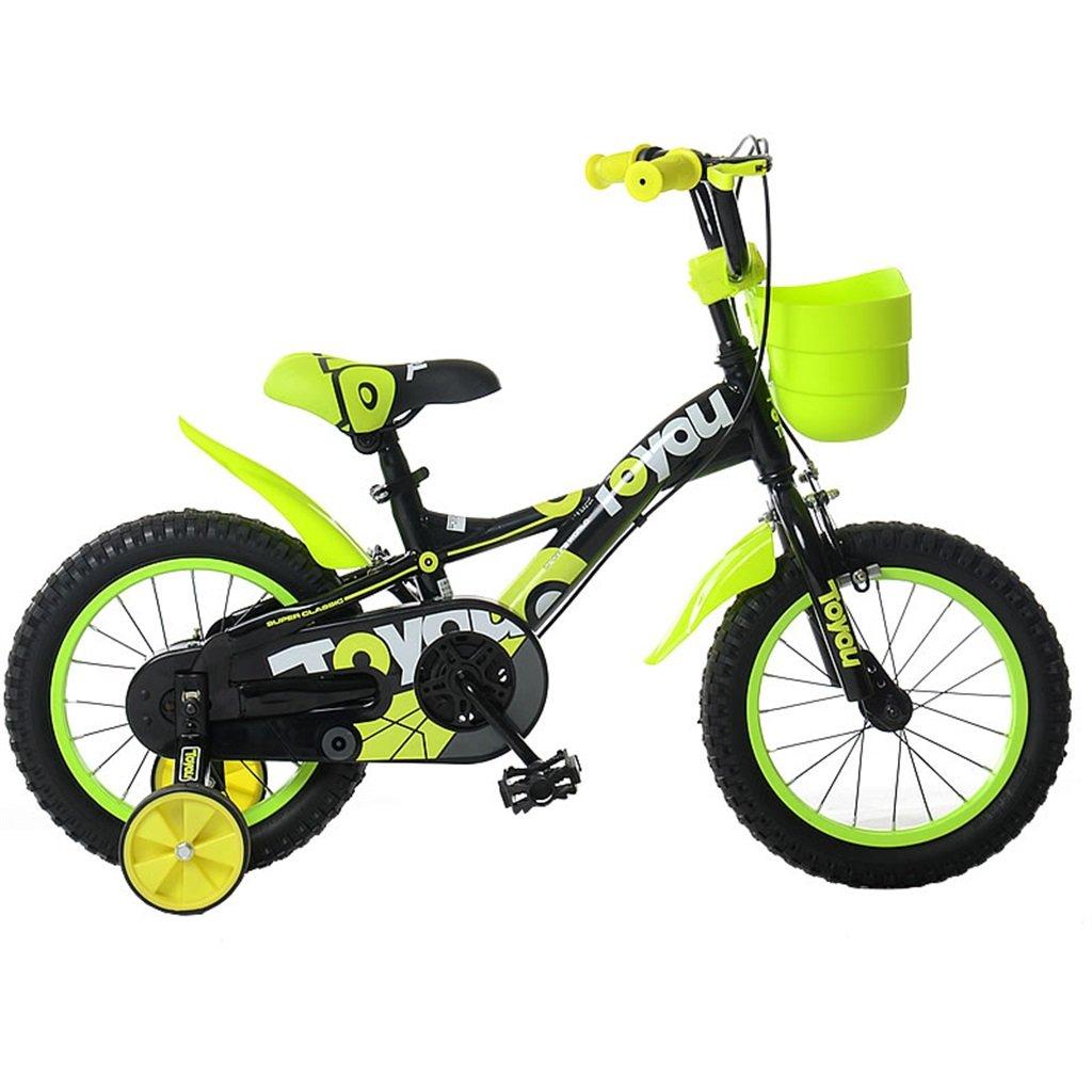 KANGR-子ども用自転車 子供用自転車適切な2-3-6-8男の子と女の子子供用玩具屋外用マウンテンバイクのハンドルバーとサドルの高さは安全トレーニングホイールで調節可能アルミスポークハブ-12 / 14/16/18インチ ( 色 : B , サイズ さいず : 16 inch ) B07C9RNHM7B 16 inch