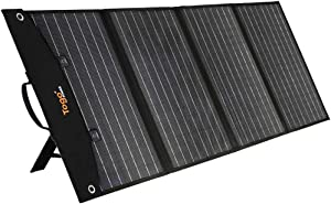 TogoPower 120W Portable Foldable Solar Panel Charger for Baldr/Jackery/GoalZero/Paxcess Power Station Generator with Dual USB Ports & 18V DC Output for RV Boat Laptop Tablet iPhone iPad Camera Lamp