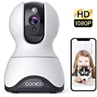 Pet Camera, Security Camera Conico 1080P HD Baby Monitor with Sound Motion Detection 2-Way Audio,Pan/Tilt/Zoom WiFi…