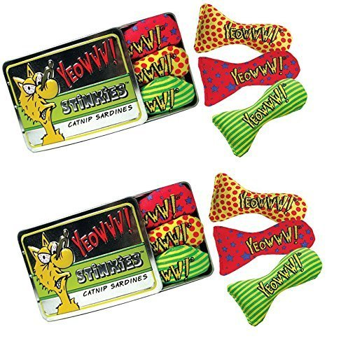 Yeowww! Catnip Tin of Stinkies Cat Toys 2 Pack