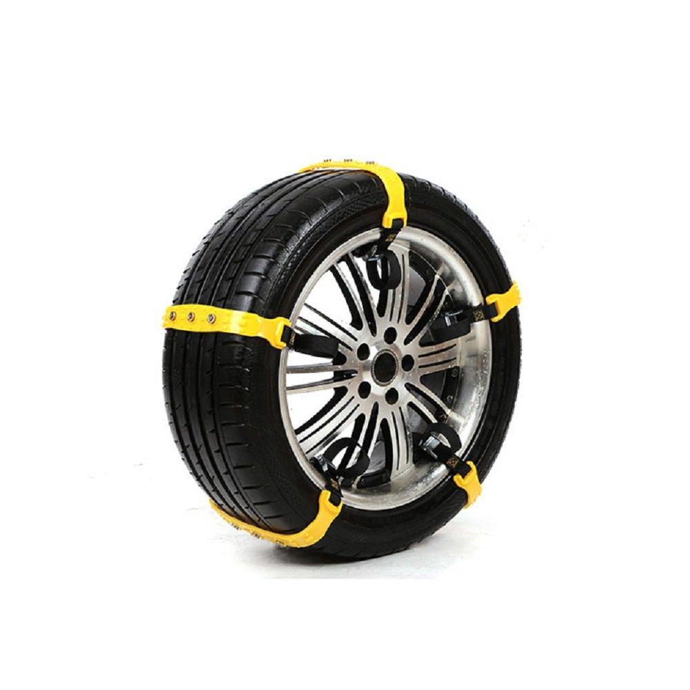 Autool Cadenas antideslizantes del neumático de la nieve del coche 10pcs / set encadenaron cadenas espesadas de TPU de la rueda del tendón de la carne de ...