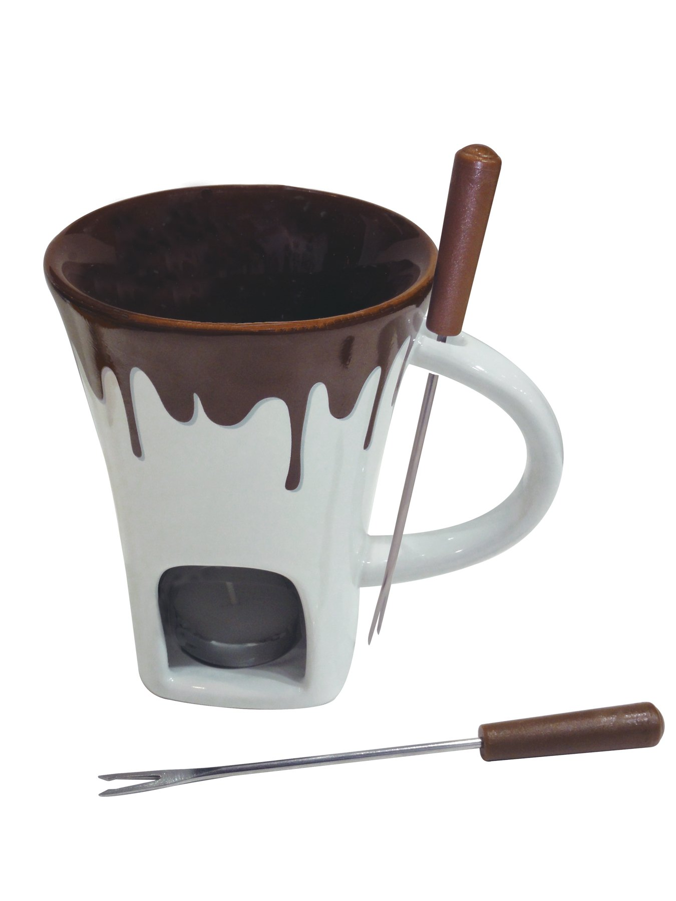 Swissmar F12064 4-Piece Nostalgia Chocolate Fondue Mug Set by Swissmar