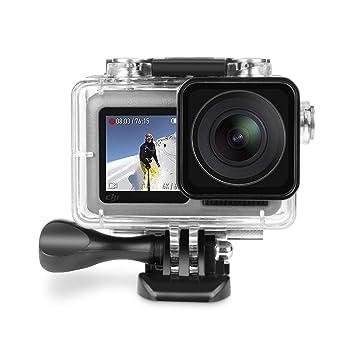 Deyard Funda Impermeable para dji OSMO Action Camera, Funda Protectora de cámara Deportiva para dji Osmo, Resistente al Agua hasta 197FT (60M) con ...