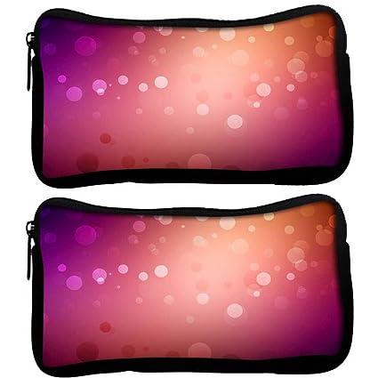 Snoogg Pack De 2 Rojo y rosa diseño de patrón de tela funda ...