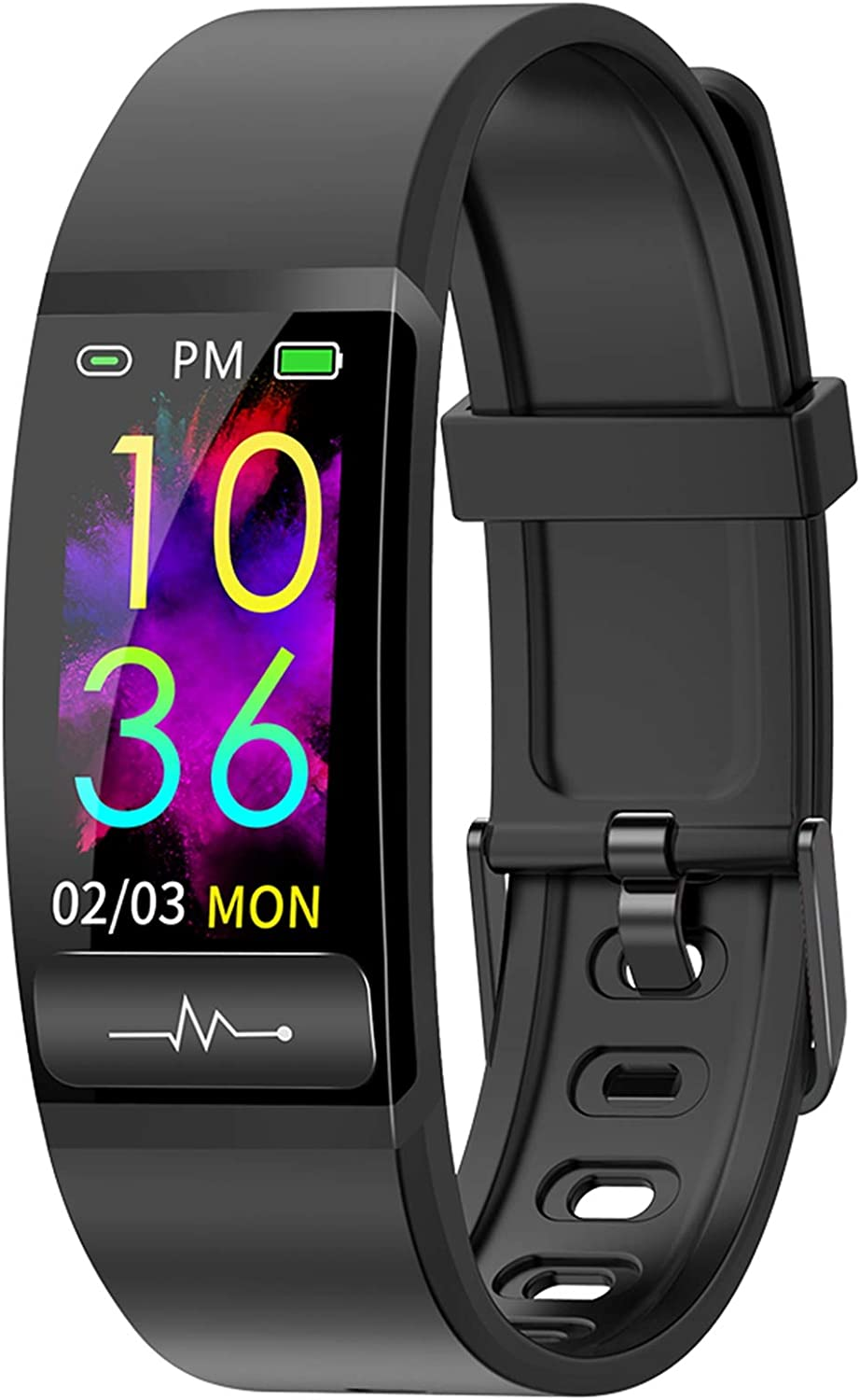 Smart Watch, Hongmed Fitness Watch for Android Phones and iPhone Compatible, with Body Temperature Blood Pressure Oxygen Monitor, Waterproof Pedometer Activity Tracker with Sleep Monitor for Men Women