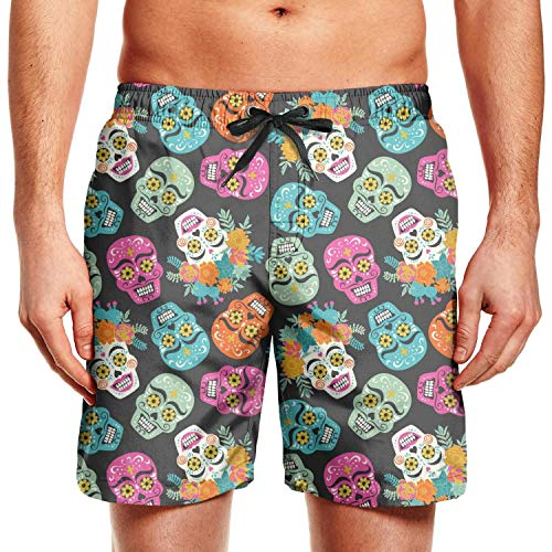 DSFASDXGFNG Day of The Dead Mexican Holiday Skull Adult Board Shorts Swim high Waisted Outdoor Shorts]()