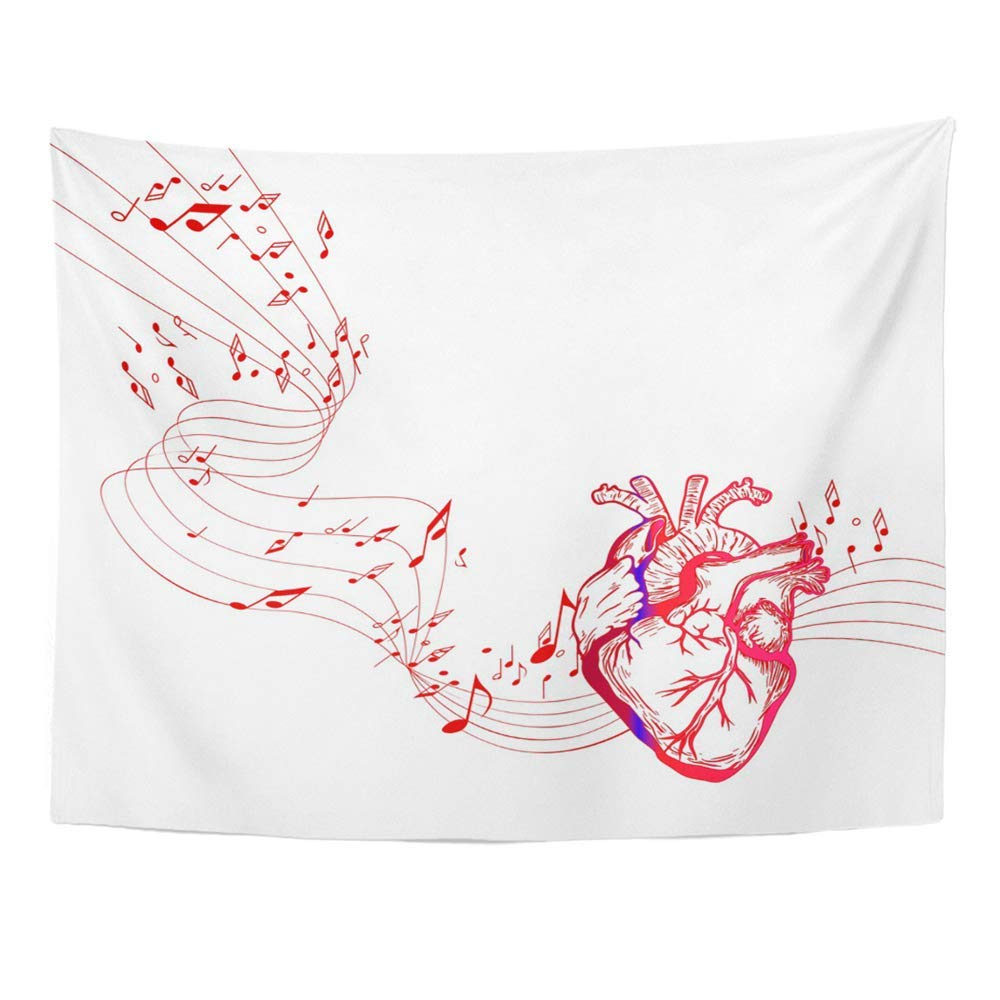 Amazon Com Roccuoo Wall Tapestry Wall Art Abstract Red