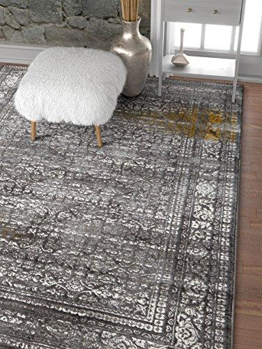 Mante Grey & Yellow Modern Sarouk Vintage Distressed Area Rug 5x7 (5'3