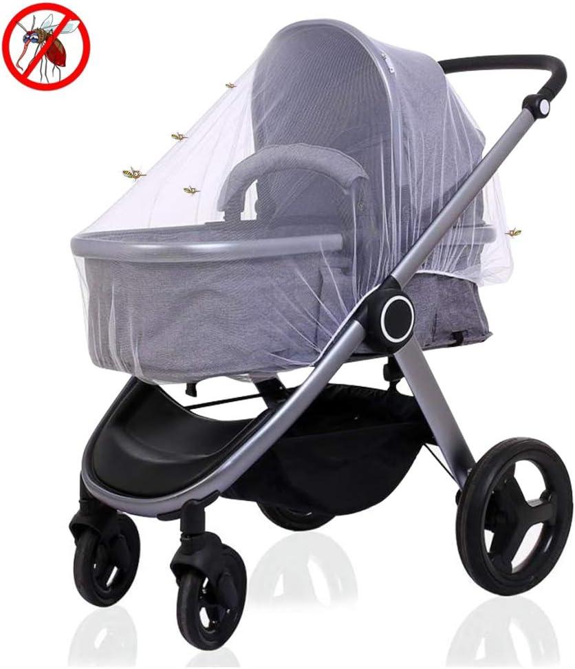 BelleStyle Mosquitera, Red anti insectos universal Protección ideal contra picaduras para capazo, silla de paseo y cuna de viaje Cochecitos Capazo y Cuna para bebé