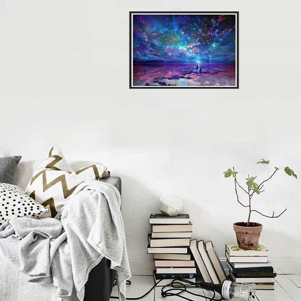 sunnymi Blau Night Sky 5d Diamant Painting DIY Stickerei Malerei ...