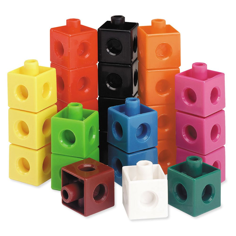 Learning Resources Snap Cubes, Educational Counting Toy, Set of 500 Cubes by Learning Resources