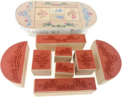 Simple Labels Stamp Tags Numbers Wood Rubber Stamps for Decorate Planners Diaries Journals Cardmaking DIY