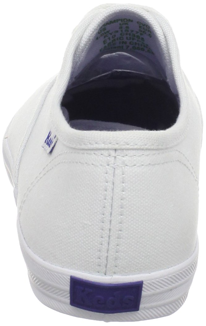 Keds girls Original Champion CVO Sneaker ,White Canvas,1 W US Little Kid by Keds (Image #2)