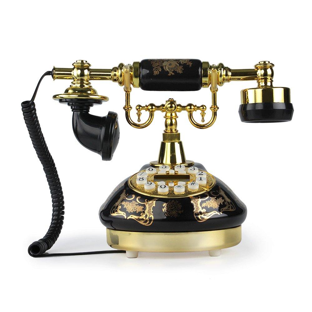 Amazon.com : LNC Black Ceramic Retro Vintage Antique Style Push Button Dial Desk  Telephone Phone Home Living Room Decor : Office Products - Amazon.com : LNC Black Ceramic Retro Vintage Antique Style Push